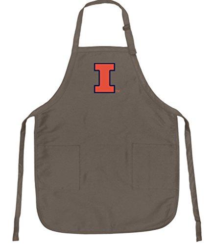 Broad Bay University of Illinois Apron Best Illinois Illini Logo Gift for Man or Woman Him Her