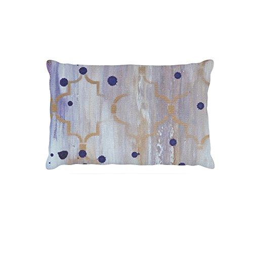 KESS InHouse Karina Edde Hibiscus  Purple Abstract Dog Bed, 50  x 40