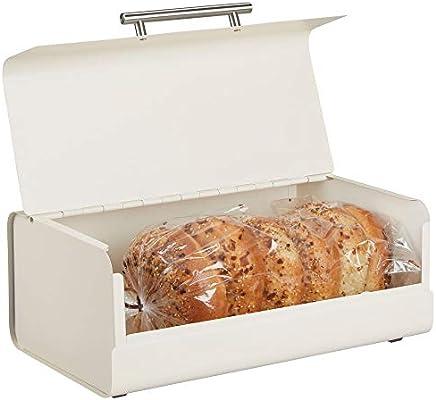 mDesign Panera de metal – Elegante contenedor para pan con estilo ...