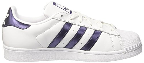 Night Adidas Baskets footwear White White Blanc Femme Superstar purple 0 footwear Metallic A6qwA0x1