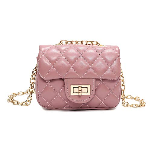Bags us Kids Small Crossbody Purse Shoulder Handbags with Chain for Girls Quilted Little Girl Purses