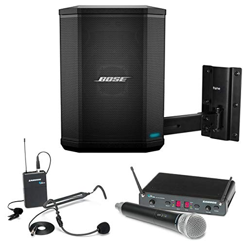 Sound Bose Equipment (Bose S1 Pro Multi-Position All-In-One PA Bluetooth System Bundle with Samson Concert 288 All-In-One Microphone System and Accessories - Presentation Sound System)