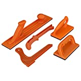 POWERTEC 71009 Safety Push Block and Stick Set | 5 Pack | Ergonomic Handles with Max Grip | Push...