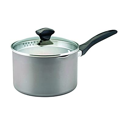 Farberware Dishwasher Safe Nonstick Aluminum Covered Straining Saucepan with Pour Spouts