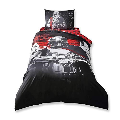 Star Wars The Last Jedi %100 Cotton Duvet Cover Set Single Size, glow in...