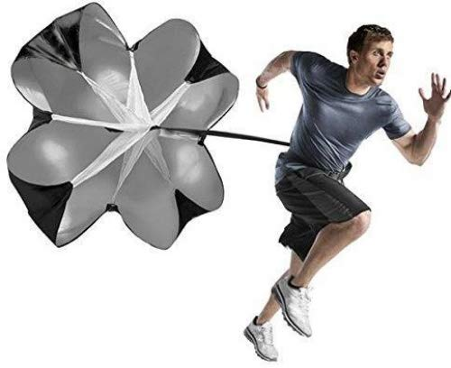 Bestoffer Agility Parachute Speed Resistance Training 60 Inch Black