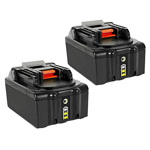 2Pack 6.0Ah 18V BL1860B Lithium-ion Replacement Battery for Makita BL1815 BL1830 BL1835 BL1840 BL1845 194205-3/194309-1