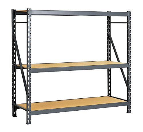 Edsal - ERP483672S - Starter Bulk Storage Rack with Particle Board Decking and 3 Shelves, 48W x 36D x 72H