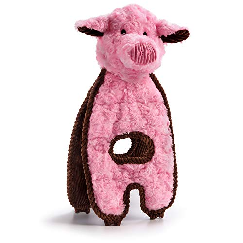 CHARMING Pet Cuddle Tugs Pig Squeaky Dog Toy