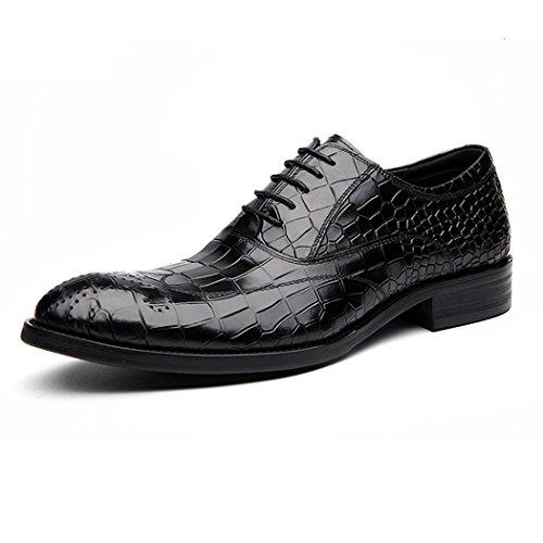 Scarpe da Uomo Primavera Autunno Comfort Oxfords Scarpe da Lavoro Formale da Uomo in Stile Classico Nero