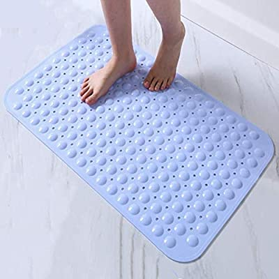 LifeKrafts Experia Shower Bath Mats with | Soft - Pebble | 88x58cm (Blue)