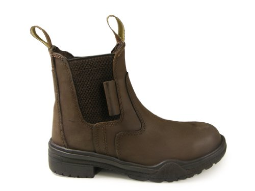 New Brown Real Leather Horse Riding Steel Toe Equestrian Showing Jodhpur Dressage Jodphur Boots All Sizes UK 10 BJoEDS