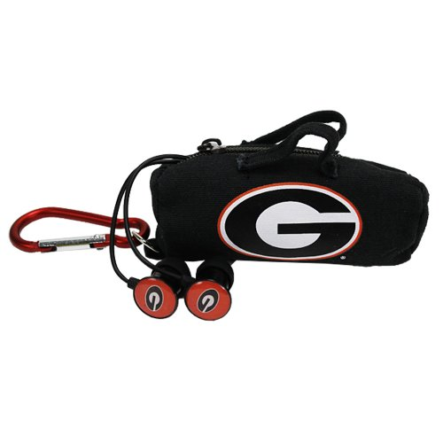 AudioSpice NCAA Georgia Bulldogs Scorch Earbuds with Bud Bag
