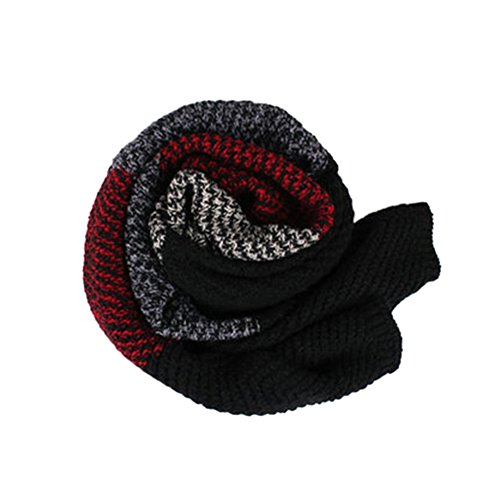 FinancePlan Couples Women's Men's Scarves Thicken Neck Warmer Color Block Fashion Collar Wrap by FinancePlan