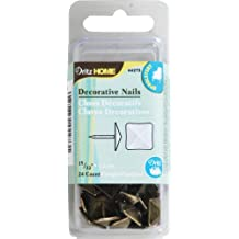 Dritz 44273 Upholstery Decorative Square Head Nails, Antique Brass, 15/32-Inch, 24-Pack