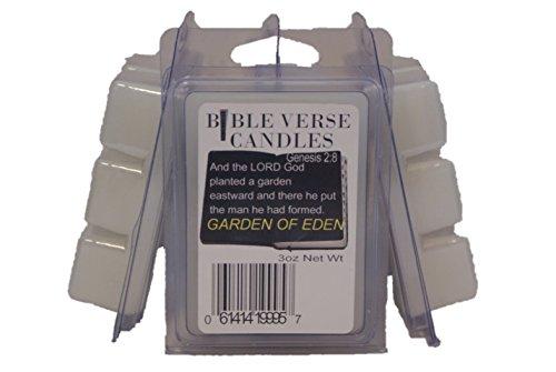 Bible Verse Candles 3 Pack Garden of Eden Wax Melt 9oz Wax Cube Wax Chunk Wax Bars