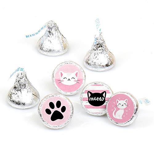 (Purr-FECT Kitty Cat - Kitten Meow Baby Shower or Birthday Party Round Candy Sticker Favors - Labels Fit Hershey's Kisses (1 Sheet of 108))