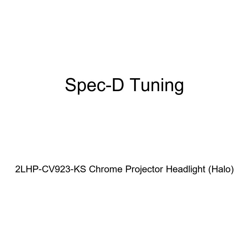 Halo Spec-D Tuning 2LHP-CV923-KS Chrome Projector Headlight