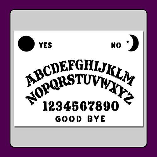 (9 X 12 Ouija/Spirit Board Stencil Template Craft/Airbrush)
