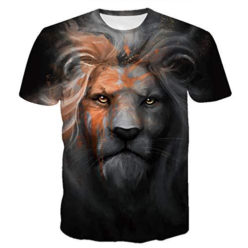 1 A shirt Kobay Corte 3d Superiore Uomini Nero Flood T Modo Nuovi Maniche Stampato Di Camicetta ZwqPB0Z