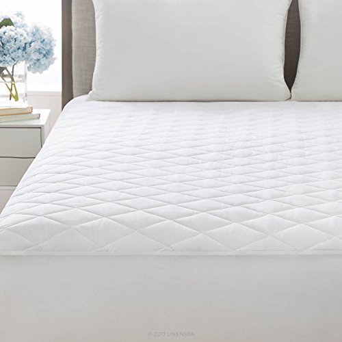 Linenspa Plush Microfiber Mattress Pad With Deep Pocket Stretch Skirt Twin