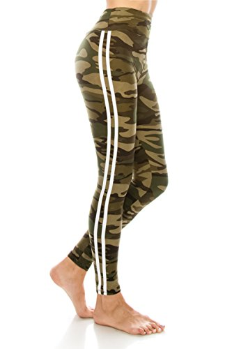 - ALWAYS Leggings Women Yoga Pants - Camo Military Army Print Pattern High Waist Workout Buttery Soft Stretchy One Size