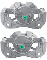 AutoShack BC30314PR Front Driver and Passenger Side Pair of 2 Brake Calipers with Bracket Replacement for 2006 2007 2008 2009 2010 2011 2012 2013 2014 2015 2016 2017 2018 Toyota RAV4 2.4L 2.5L