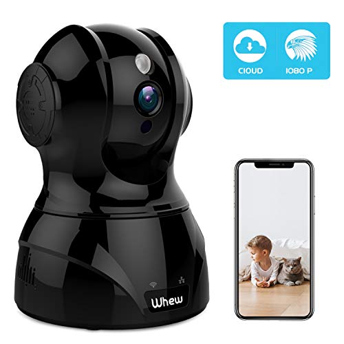 1080P WiFi Camera Indoor, Whew Wireless Home Security Camera Baby Monitor Pet Camera with Night Vision, 2-Way Audio,