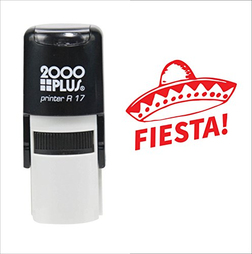Cinco De Mayo (May 5th) Fiesta! Sombrero Mexican Celebration 2000 Plus Self Inking Rubber Stamp - Red Ink -