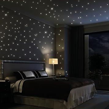 adesivo da parete loft 203 punti fluorescenti cielo stellato (con ... - Luci Soffitto Stellato