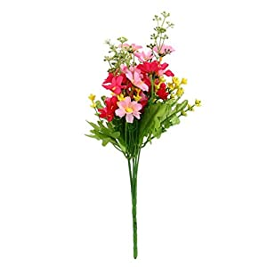 TiTCool 1 Bunch 28 Heads Artificial Fake Flower Bouquet Home Wedding Party Decoration 67