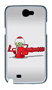 Gumball Machine Gun Polycarbonate Hard Case Cover for Samsung Galaxy Note II N7100 White by Maris's Diaryby Maris's Diary