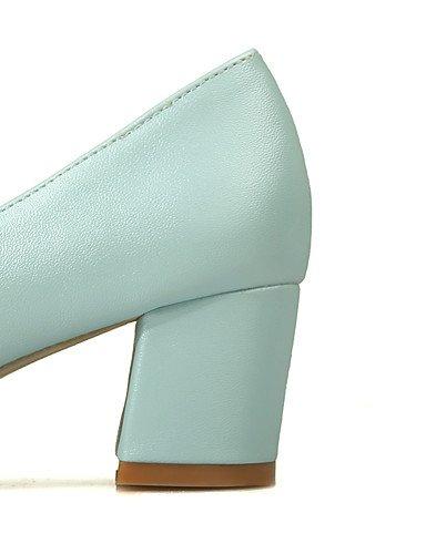 GGX/Damen Schuhe PU Sommer/spitz Toe Heels Büro & Karriere/Casual Chunky Ferse Nachahmung Pearl blau/pink/weiß pink-us10.5 / eu42 / uk8.5 / cn43