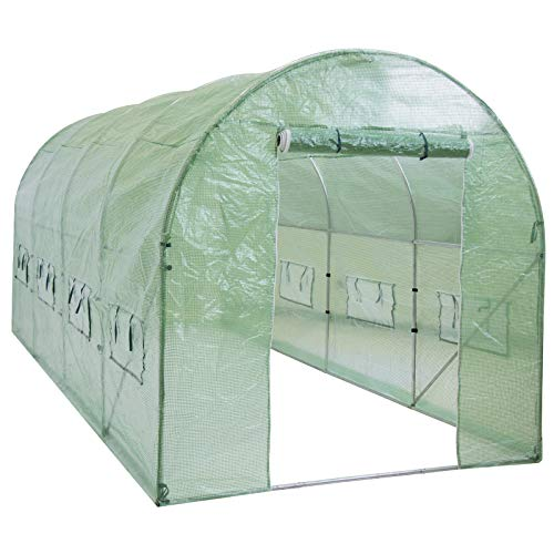 Best Choice Products SKY1917 15x7x7ft Portable Large Walk in Tunnel Garden Plant Greenhouse Tent, 15' x 7' x 7' - Flower Bed Tent