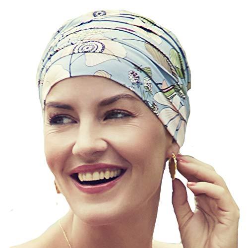 Christine Headwear Gorro Yoga con bambú Estampado Flores Oriental para Mujeres en Tratamiento de quimioterapia
