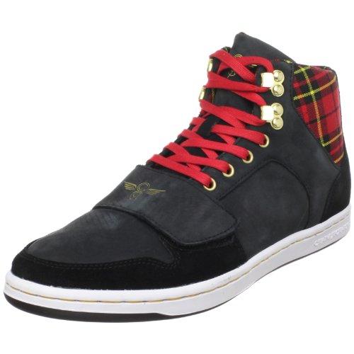 Creative Recreation Mens Cesario Haut Haut Sneaker Noir Rouge Tarte