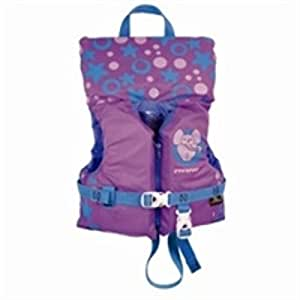 Stearns Infant Antimicrobial Life Jacket, Blue/Pink Hearts and Stars