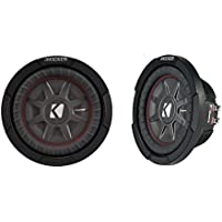 Kicker 8 Dual 1200W CompRT 2 Ohm Shallow Slim Car Subwoofer (Pair) | 43CWRT82