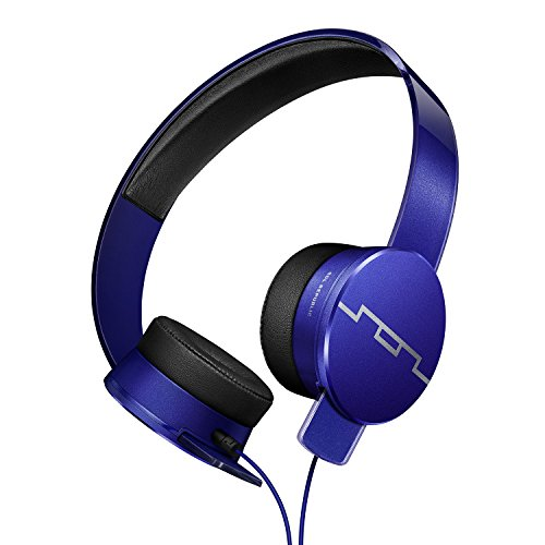 SOL REPUBLIC Tracks HD2 On-Ear Headphones – Noise Isolation, Cable with Mic + 3 button Remote, Virtually indestructible, Lightweight, Carrying Case, SOL-HP1251BL Blue
