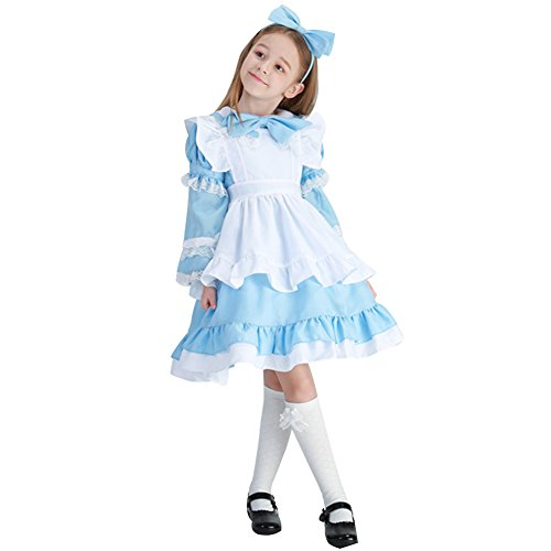 CH&Q Cosplay Girls princess skirt Maid Halloween costume fancy dress show play clothing