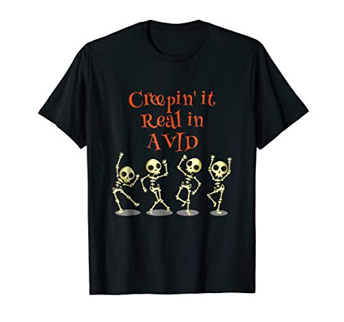 AVID Creepin' it Real HALLOWEEN School Teacher Shirt