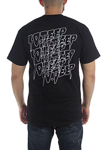 10 Vision T shirt Deep Double Pour Black Homme qqvw4r1n