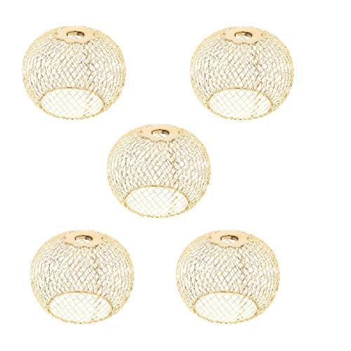 Homyl 5 Pcs Plafonnier Ronde LED Moderne Lampe de Murale Lumière de Nuit pour Chambre Couloir Salon Éclairage Intérieur Or