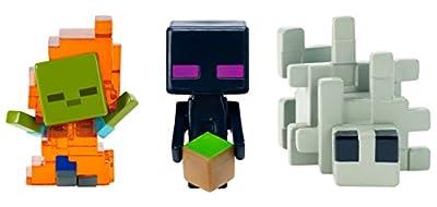 Minecraft Zombie In Flames, Enderman, & Silverfish Figure