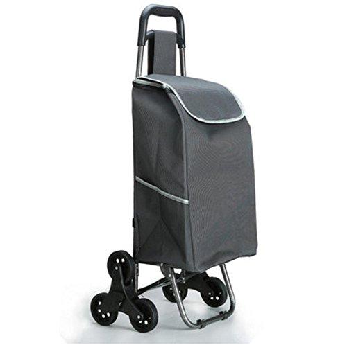 Shopping Trolley Luggage Bag With Wheels (Black) - 5