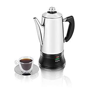 Coffee Maker Not Percolating : Elgento E011/MO 12 Cup Stainless Steel Coffee Percolator, Coffee Maker, 1200 W, 1.8 L - Silver ...