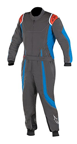 Price comparison product image Alpinestars KMX-9 S Youth Kart Racing Suit 3356517 (Size: 140,  Anthracite / Blue / Red)