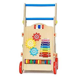 ChenYongPing Andador para Bebé Actividad Madera Andador Juguetes ...