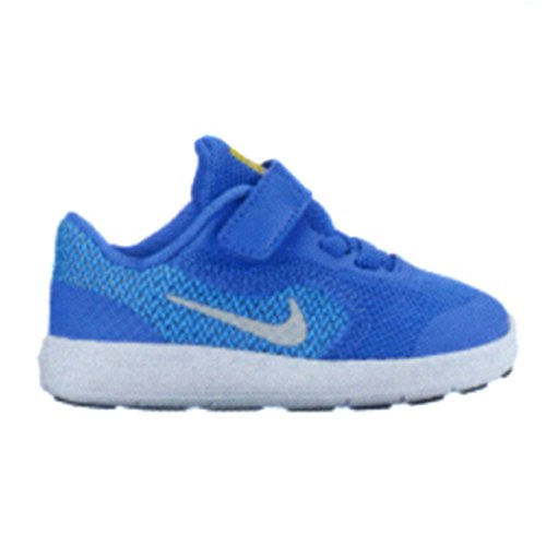 New Nike Baby Girl's Revolution 3 Athletic Shoe Blue/Pure Platinum 8 (Nikes For Toddlers)