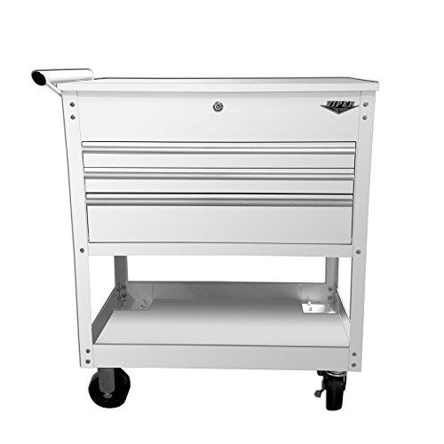- Viper Tool Storage V33UCWHR 3-Drawer Industrial Utility/Mechanics Cart, 34